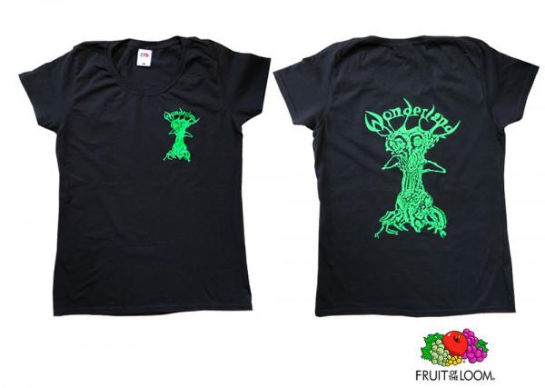 Wonderland Shirt Black/Neon