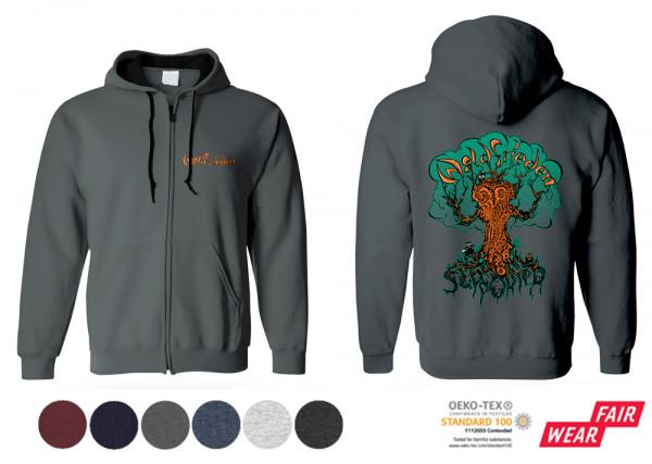 Supporter Zip-Hoodie mit Frontdruck Organic Fair